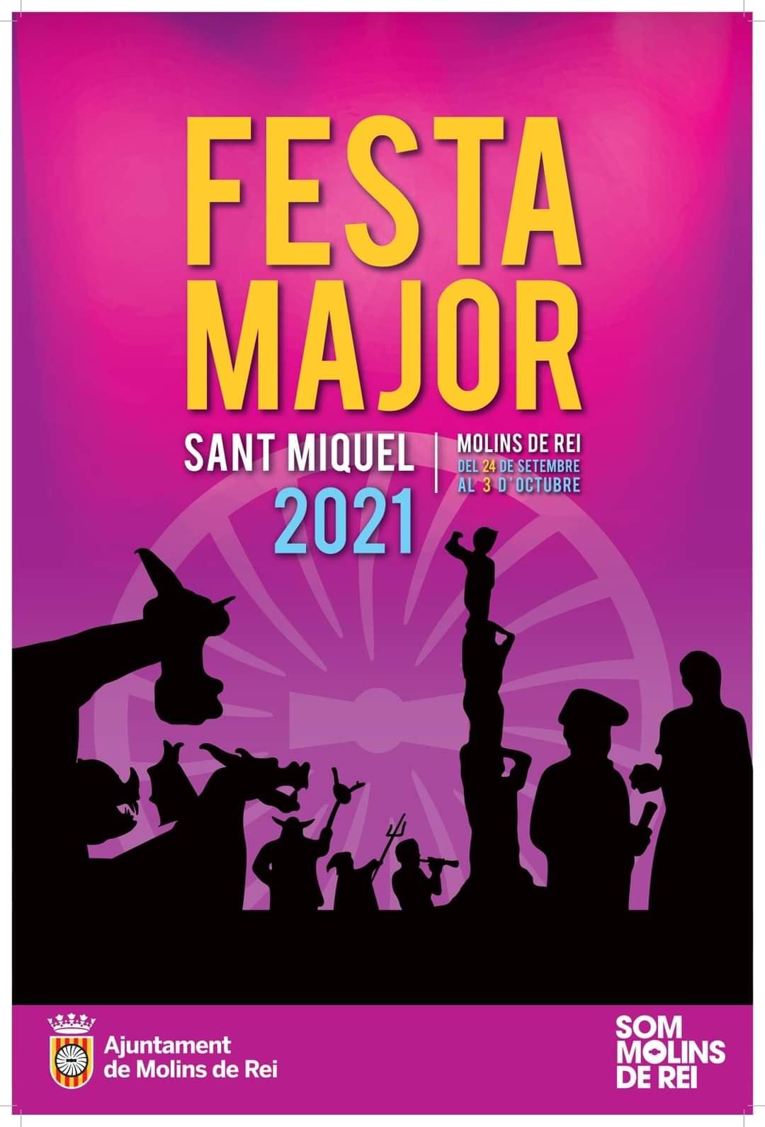 Cartell Festa Major Molins de Rei 2021